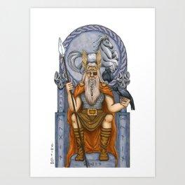 Odin, Norse God Art Print