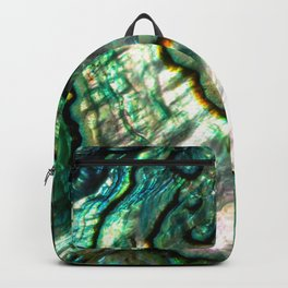 Shimmering Green Abalone Mother of Pearl Backpack