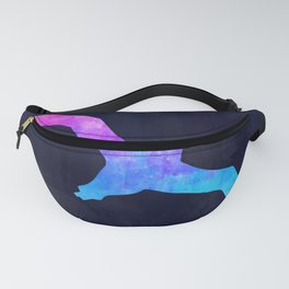 SEAGULL IN SPACE // Animal Graphic Art // Watercolor Canvas Painting // Modern Minimal Cute Fanny Pack