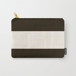 Brush Stroke Stripes: Chocolate Cream Cookie Carry-All Pouch