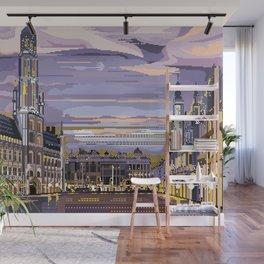 Brussels, Belgium pixel art Wall Mural