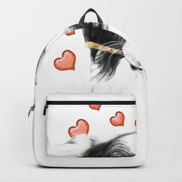 Border Collie And Hearts Backpack