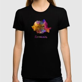 Romania in watercolor T-shirt