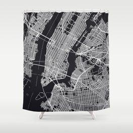NEW YORK CITY MAP Shower Curtain