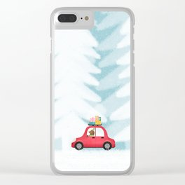 Christmas scene Clear iPhone Case