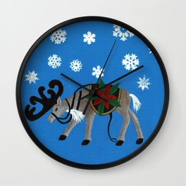 Ready for Santa's Sleigh Wall Clock