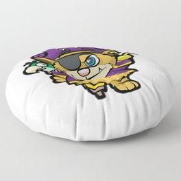 PURRATES Pirate Cat Buccaneer Sea Robber Comic Floor Pillow