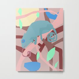 Postmodern Chameleon Metal Print