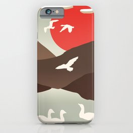 Swan Migration iPhone Case