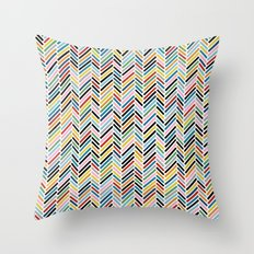 Herringbone Colour #2 Throw Pillow
