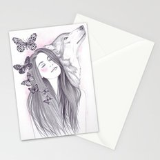 Wolf To The Moon Stationery Cards
