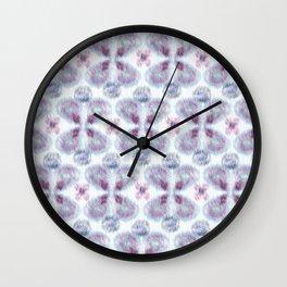 Violet ikat Wall Clock