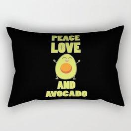 Funny Avocado Lover Saying | Vegan Gift Rectangular Pillow