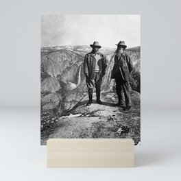 Teddy Roosevelt and John Muir - Glacier Point Yosemite Valley - 1903 Mini Art Print