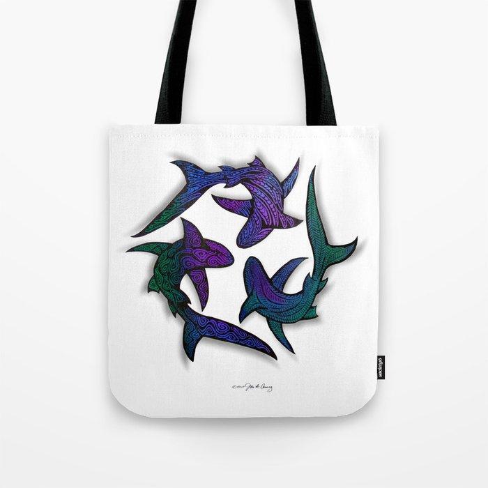 SHARK CIRCLE II Tote Bag