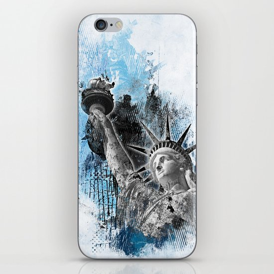 Lady Liberty iPhone & iPod Skin