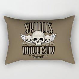 Skulls University Rectangular Pillow