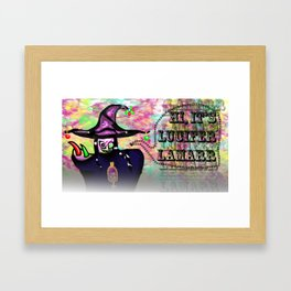 HI, IT'S LUCIFER LAMARR Framed Art Print