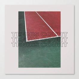 Tennis Court Canvas Print