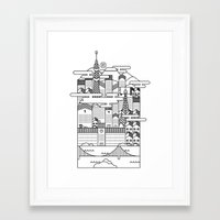 tokyo Framed Art Prints featuring TOKYO by Design Made in Japan