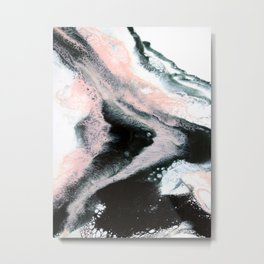Pieces Of You Abstract Painting Metal Print