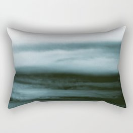 WHITE & BLUE & BLACK TOUCHING #4 #abstract #decor #art #society6 Rectangular Pillow