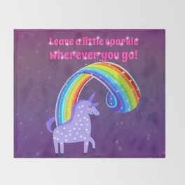 Leave A Little Sparkle Wherever You Go Throw Blanket