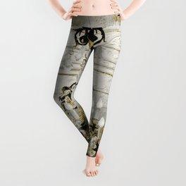 Crystal Chandelier Gold Vintage Leggings