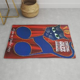 1995 Montreal Jazz Festival Cool Cats Poster Gig Advertisement Rug