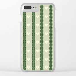Green Locket Clear iPhone Case