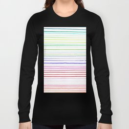 RAINBOW WATERCOLOR LINES Long Sleeve T-shirt