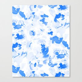 AbstractFlora Lapis Blue Canvas Print