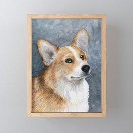Dog 89 Corgi Dog Framed Mini Art Print