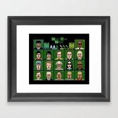 8 Bit Bad Guys Framed Art Print