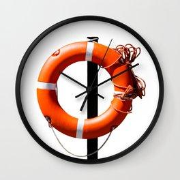 Orange live saving ring Wall Clock
