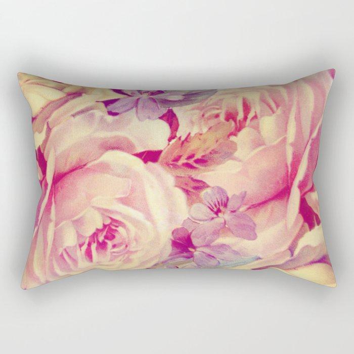 soft vintage roses Rectangular Pillow