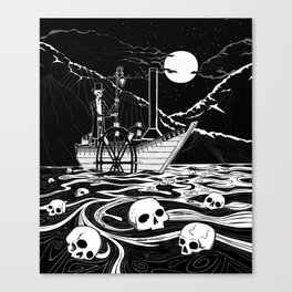 Steamboat across the Styx Canvas Print