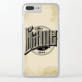 The Game Is On Clear iPhone Case