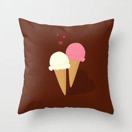 Ice cream love Throw Pillow