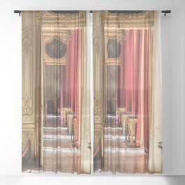 Halls of Gold Sheer Curtain