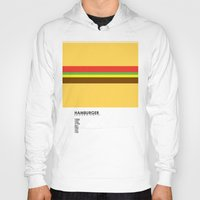 pantone Hoodies featuring Pantone Food - Hamburger by Picomodi