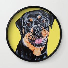 Phoebe the Rottweiler Wall Clock