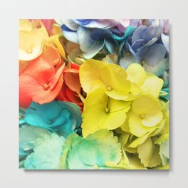 Rainbow-Colored Flowers: ALL Colors are Loved Metal Print