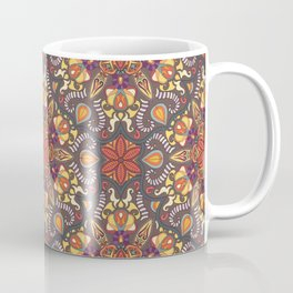 Colorful abstract ethnic floral mandala pattern design Coffee Mug