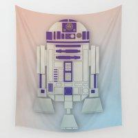 starwars Wall Tapestries featuring StarWars R2D2 by Joshua A. Biron