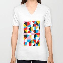 BALANCE III - Abstract Fragment Broken Mirror Mosaic Graphic Design Unisex V-Neck