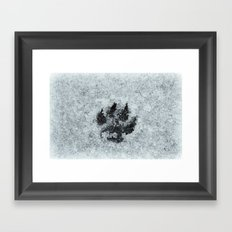 Printed In Snow Framed Art Print