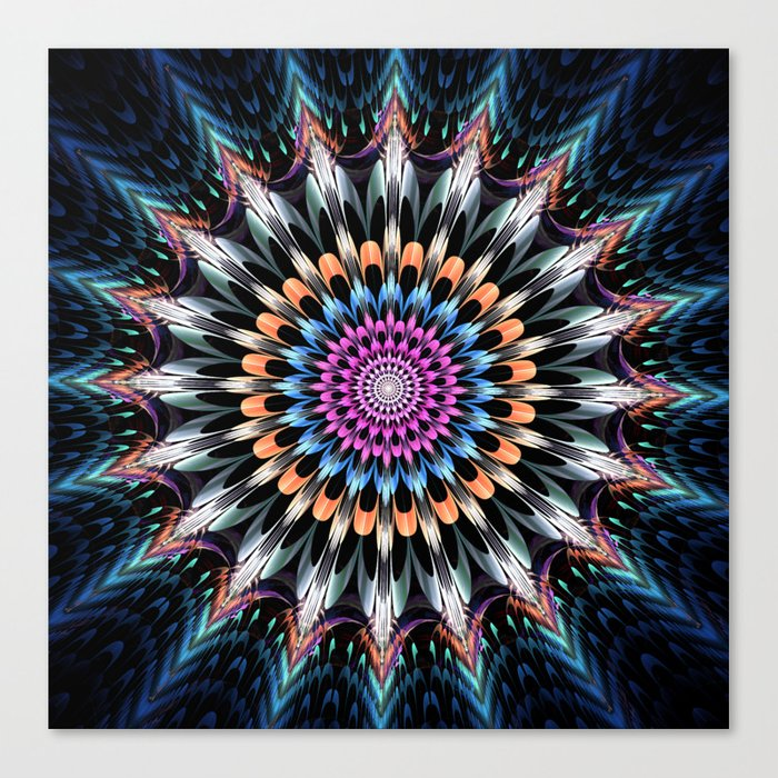 The flower of happiness Canvas Print