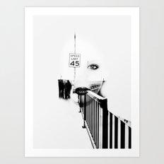 Speed Limit 45 Art Print