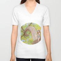 hunter V-neck T-shirts featuring Hunter by ashtoledo